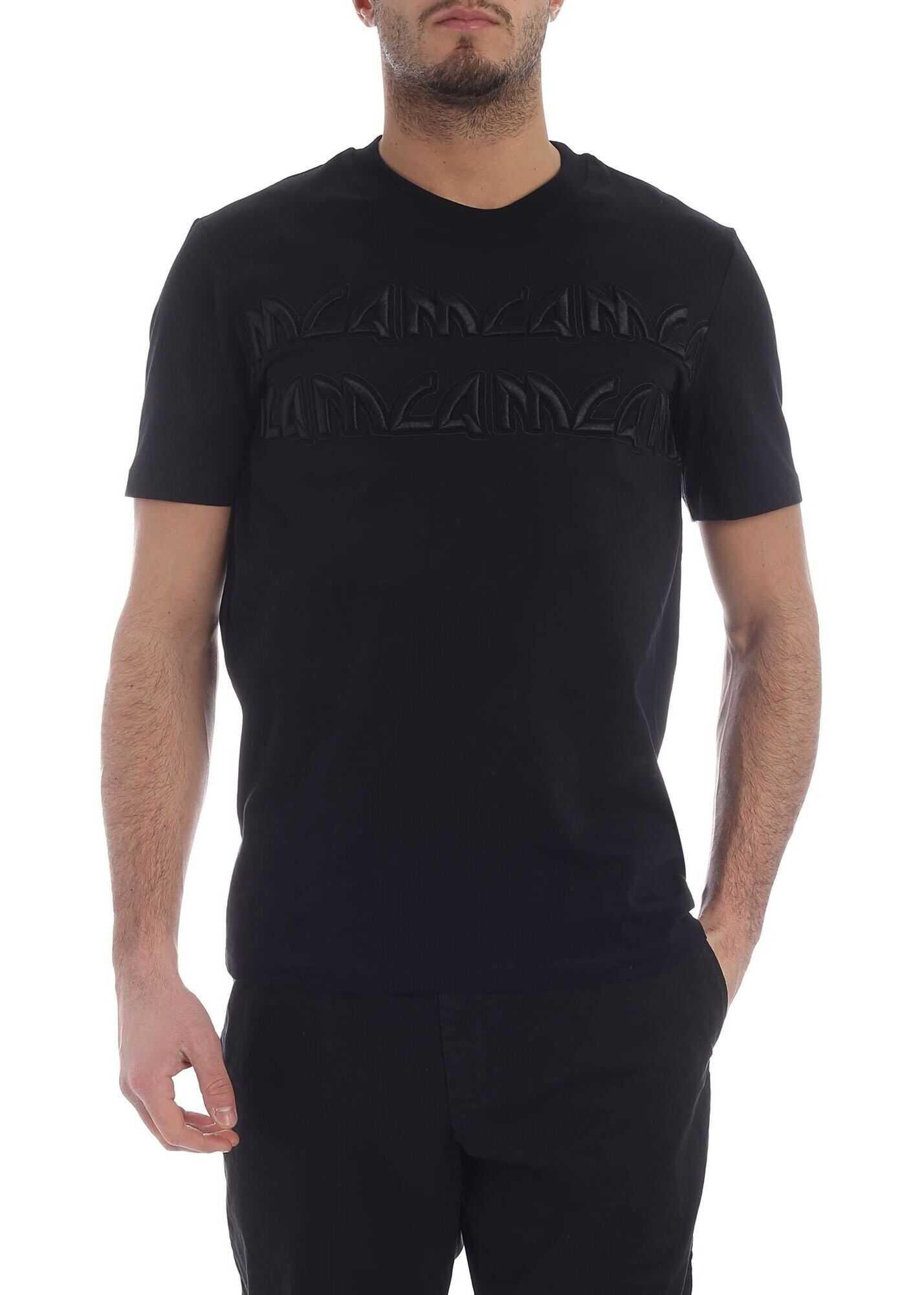 Mcq Embroidered Black T-Shirt
