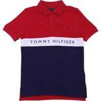 Tricouri Polo Tommy Bicolor Polo In Red And Blue Baieti