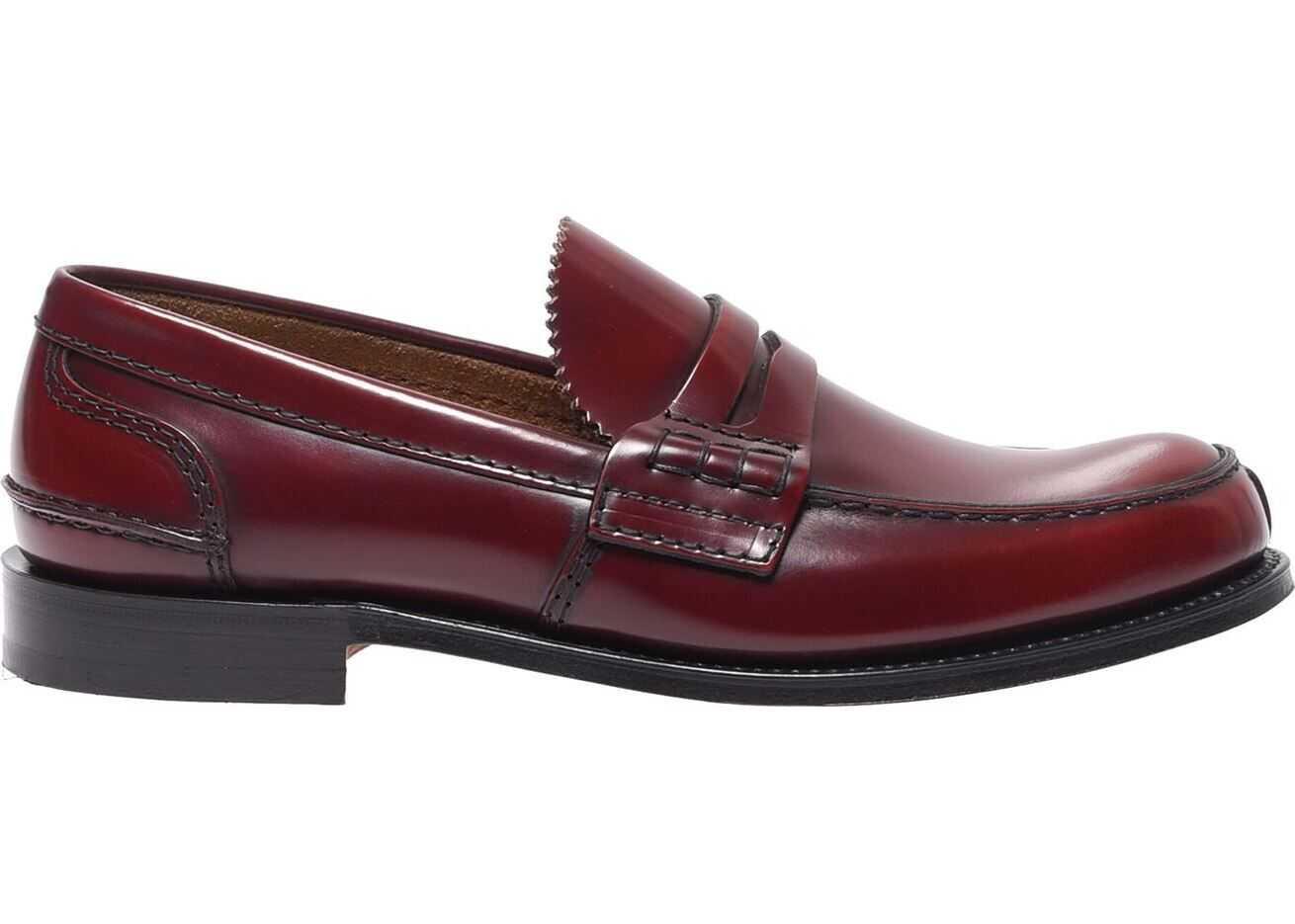 Church's Burgundy Tunbridge Loafers Red