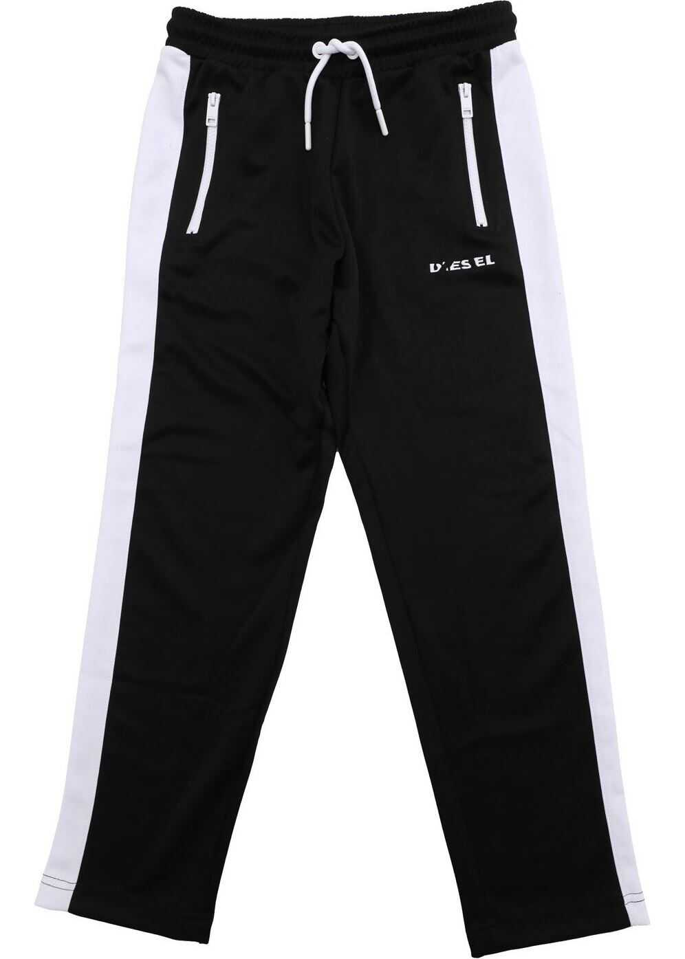 Diesel Black And White Pska Trousers Black