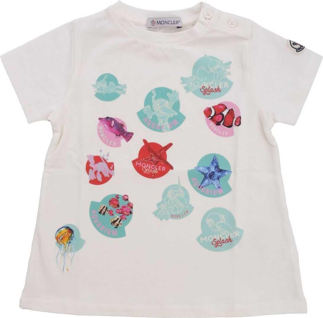 Moncler Jr T-Shirt With Aquarium Motif