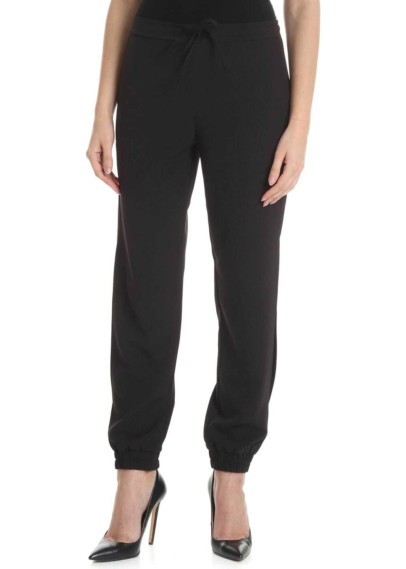Blugirl Black Jogging Trousers With Blugirl Logo Black