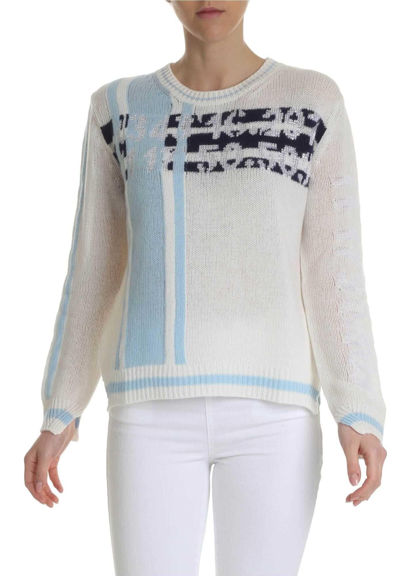 Ermanno Scervino Cream Colored Cashmere Pullover White