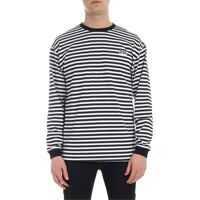 Bluze Gcds Black And White Striped Sweater Barbati