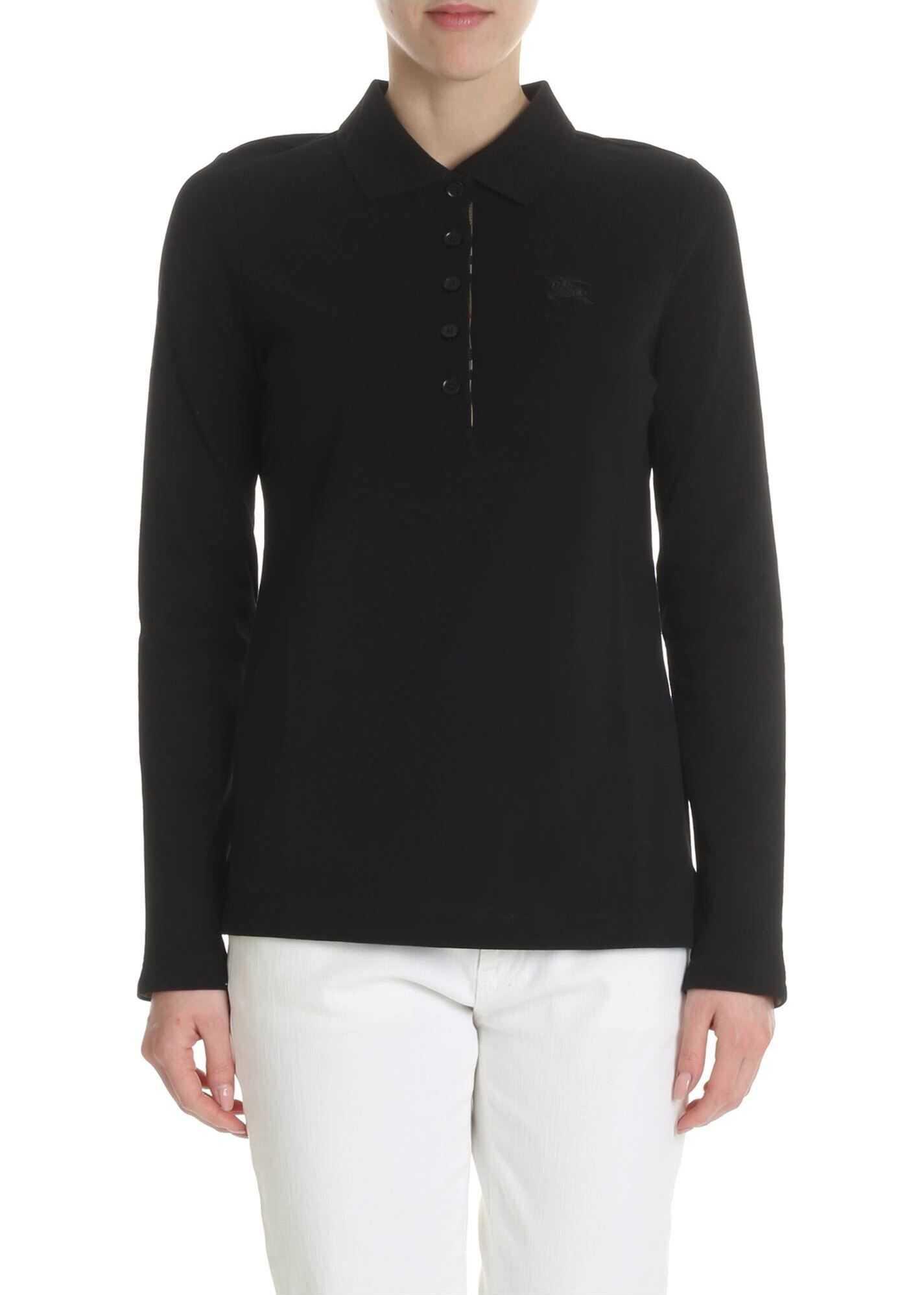 Burberry Black Long-Sleeved Polo Black