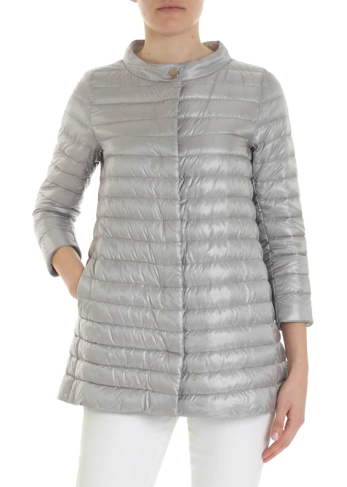 Herno Rossella Pearl Gray Down Jacket Grey
