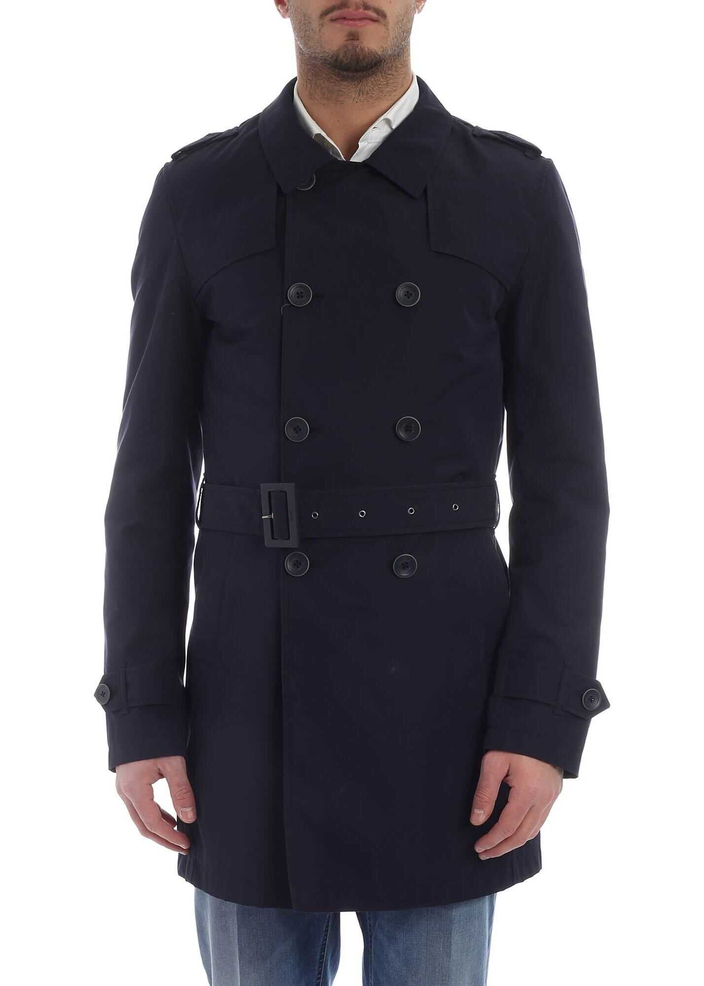 Herno Herno Rain Collection Trench Coat Blue