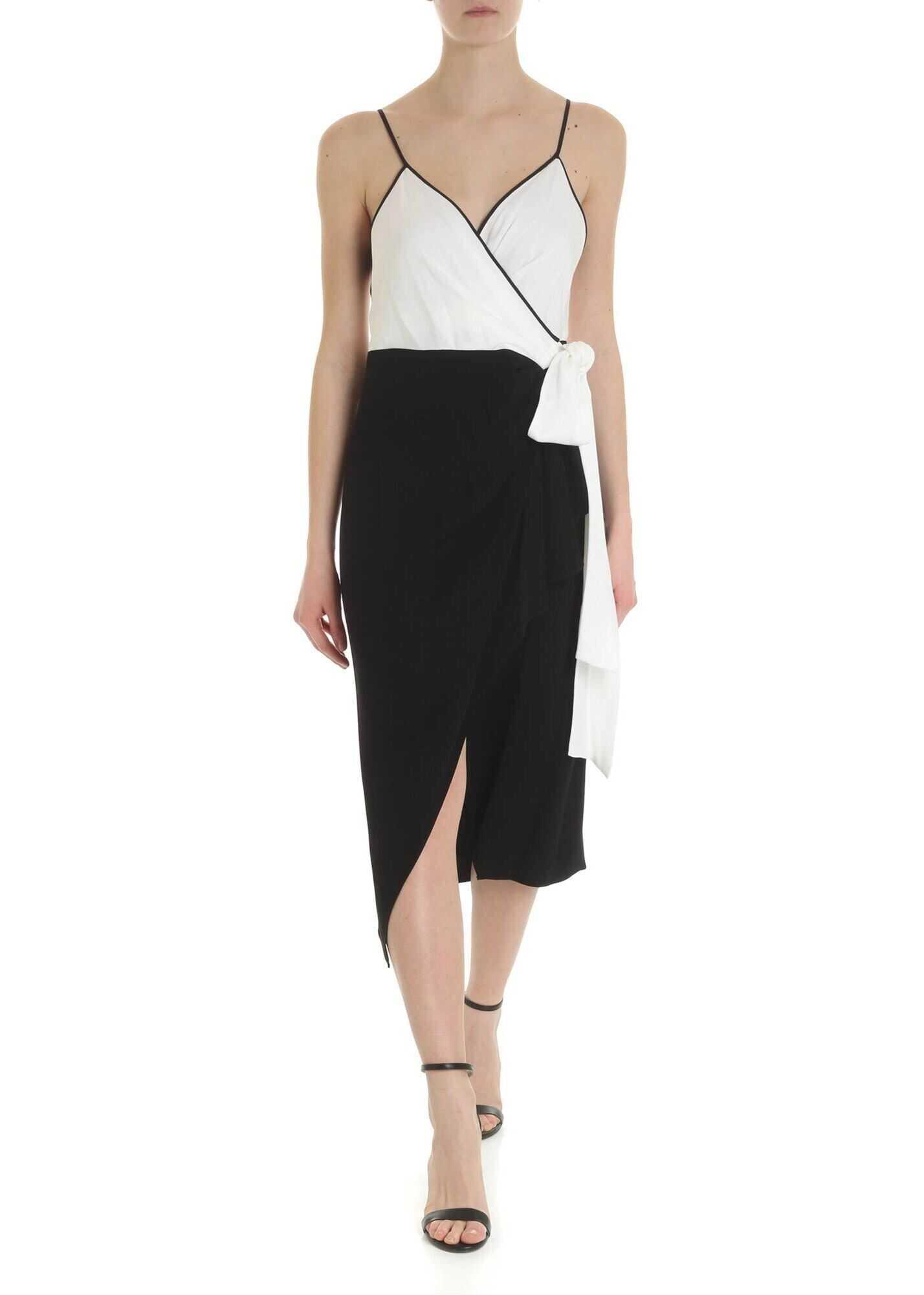 Diane von Furstenberg Avila Dvf Ivory And Black Dress Black
