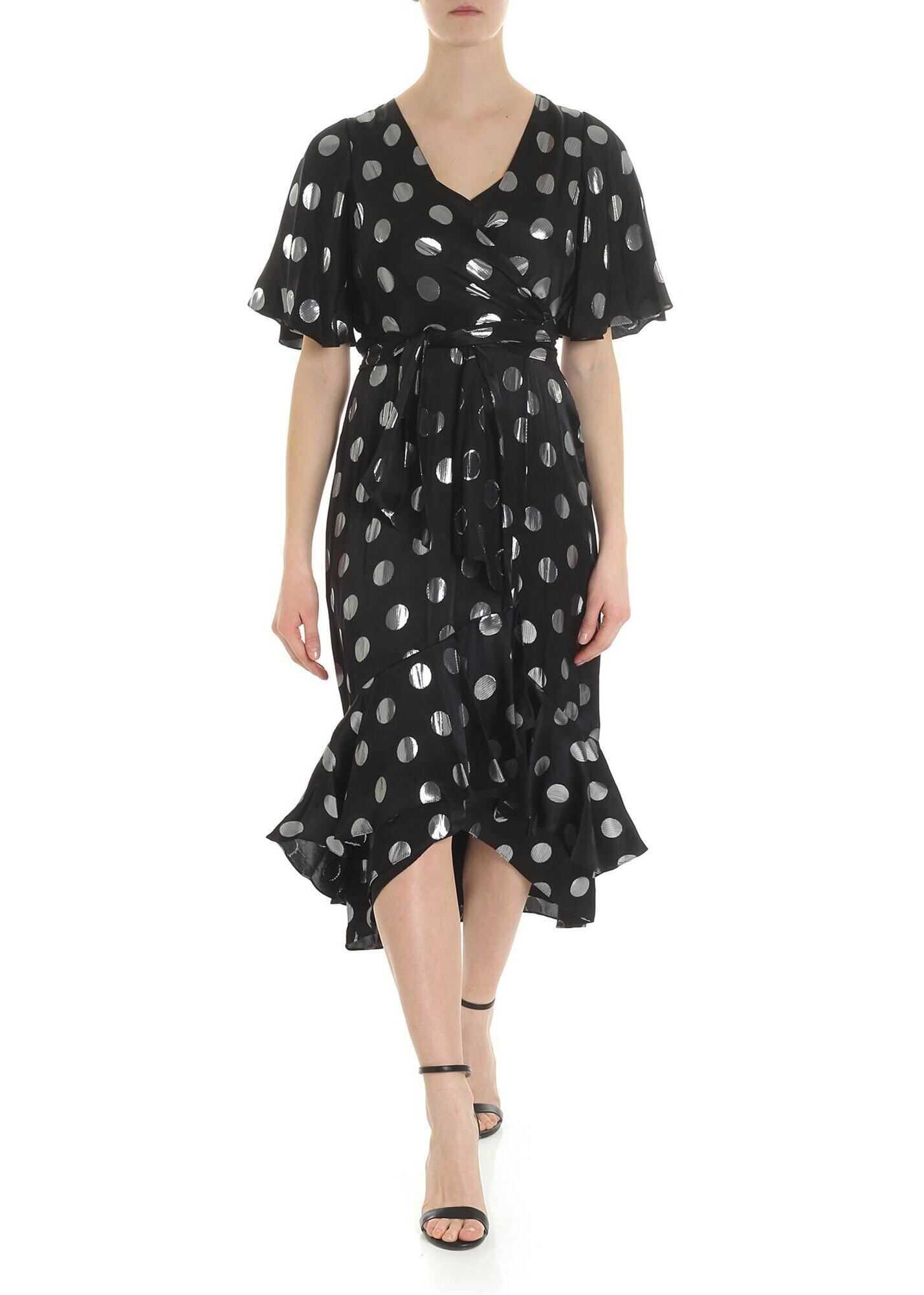 Diane von Furstenberg Sareth Dvf Black Dress With Frill Black