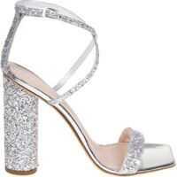 Sandale Silver Glittered Vampire Sandals Femei