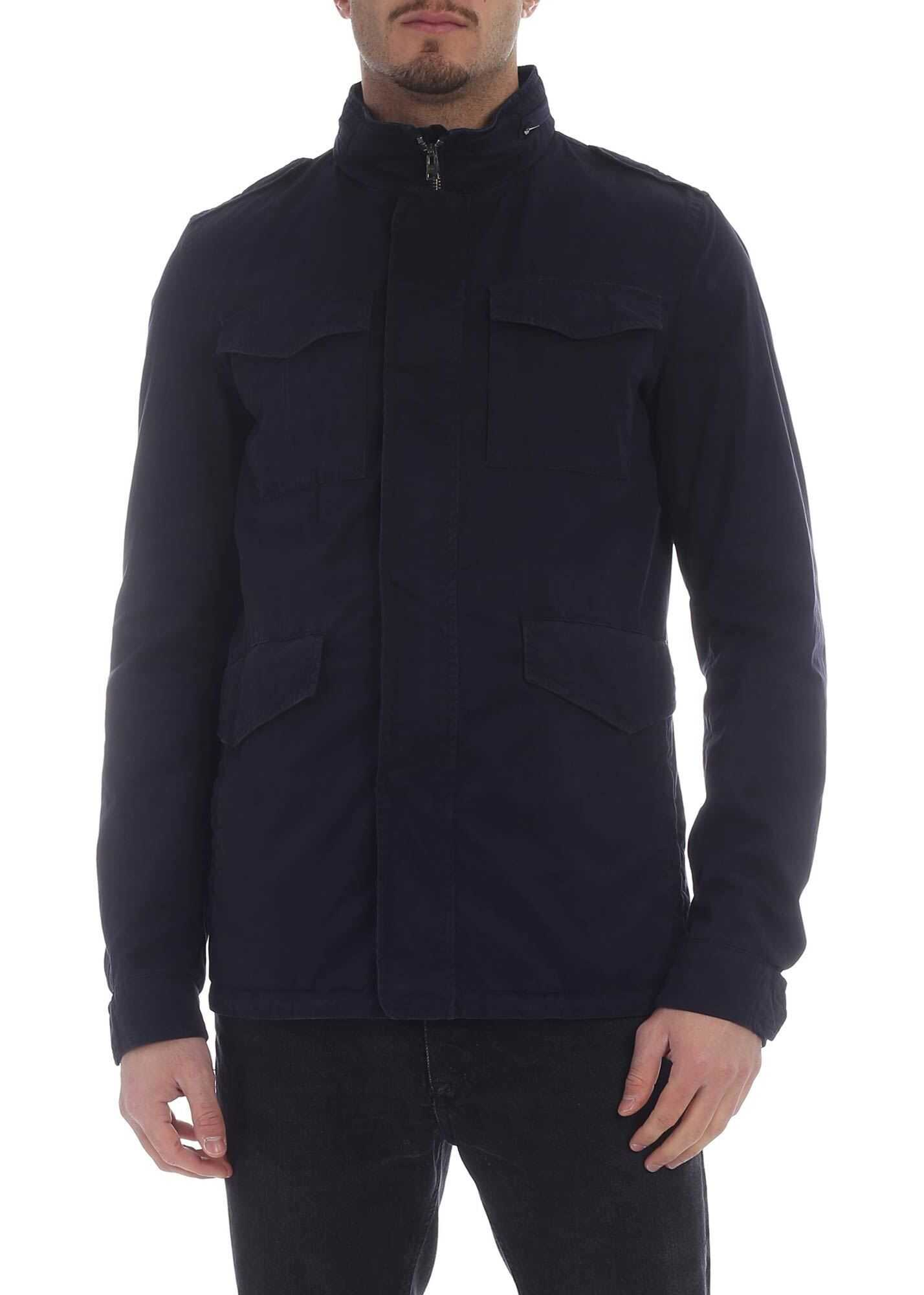 Blue Jacket With Front Pockets