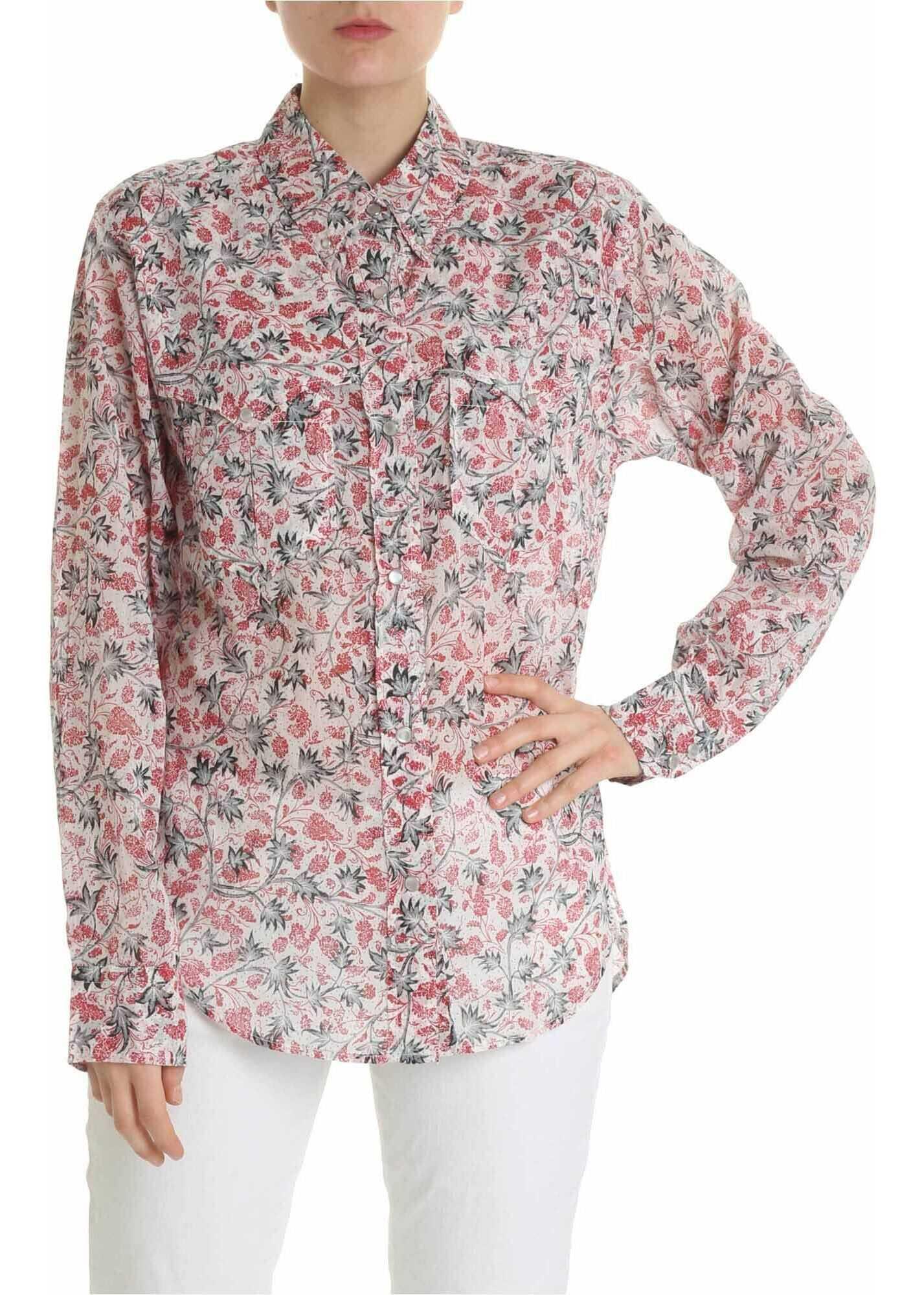 Isabel Marant Emelina Shirt With Floral Motif White