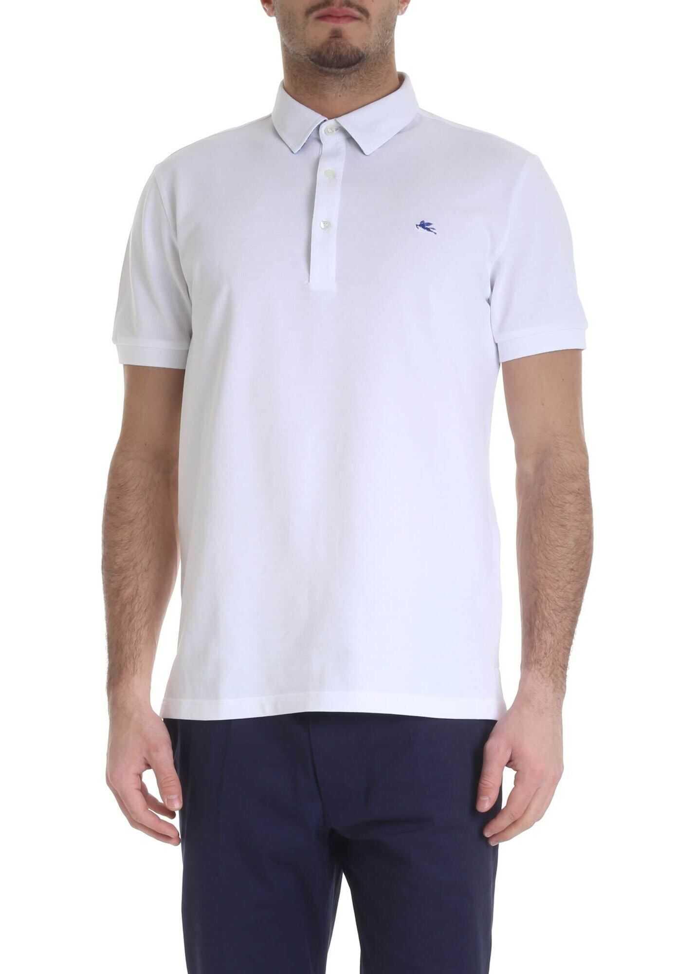 ETRO Etro Polo In White Piqué Cotton White imagine