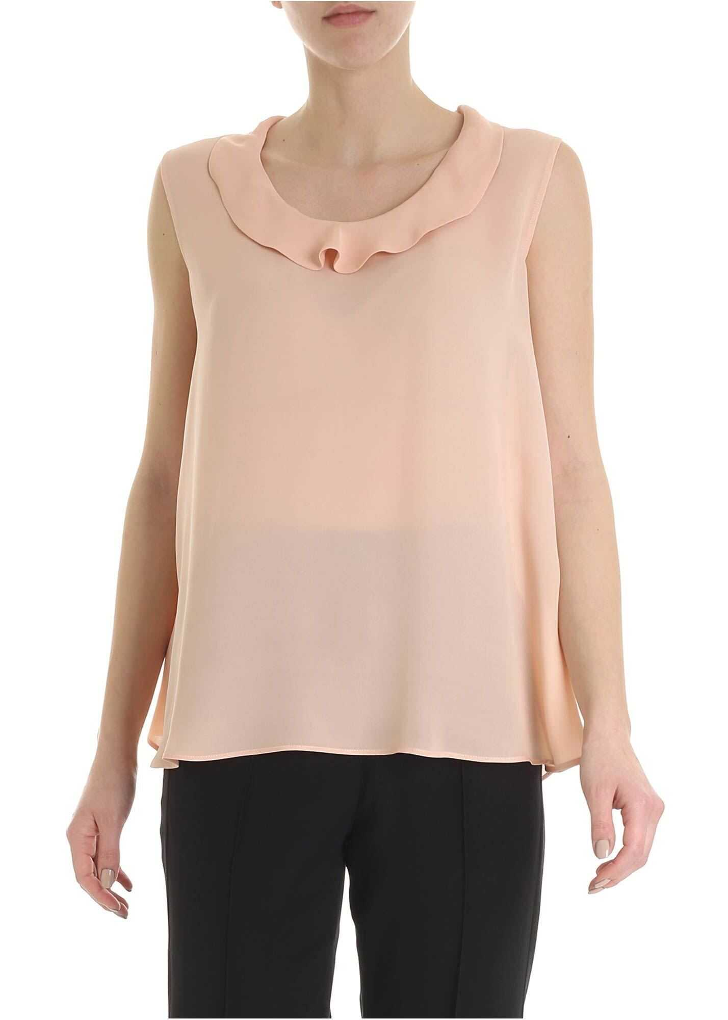 ETRO Etro Top In Peach Pink Color With Ruffles