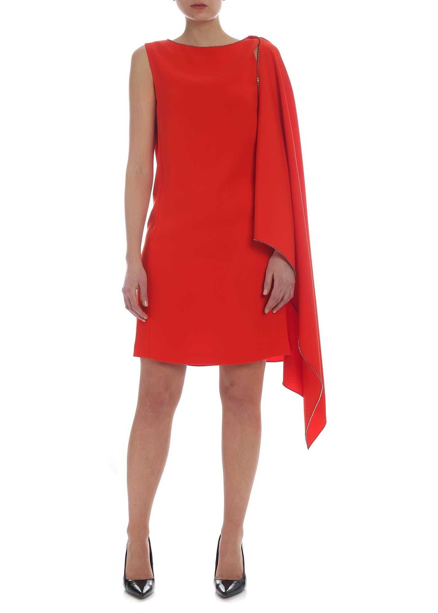 MCQ Alexander McQueen Mcq Cape Dress In Red Red