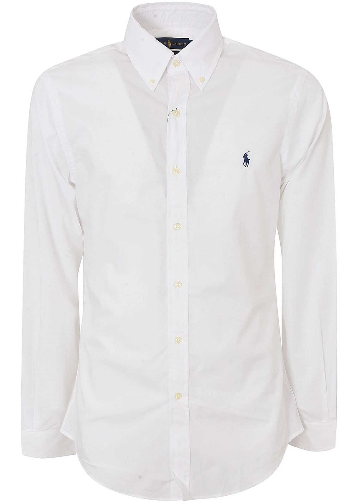 Ralph Lauren White Button-Down Shirt White imagine