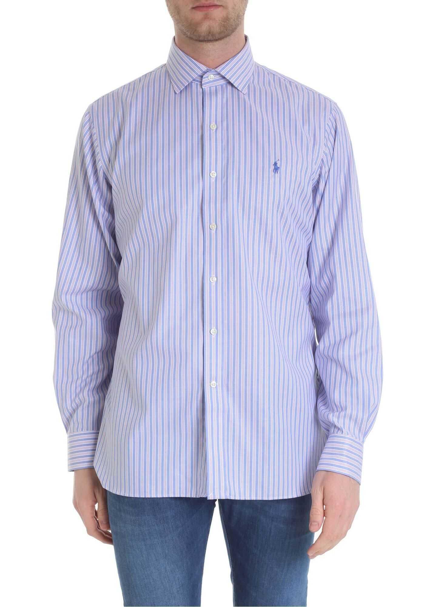 Ralph Lauren Blue And Pink Ralph Lauren Striped Shirt Blue imagine