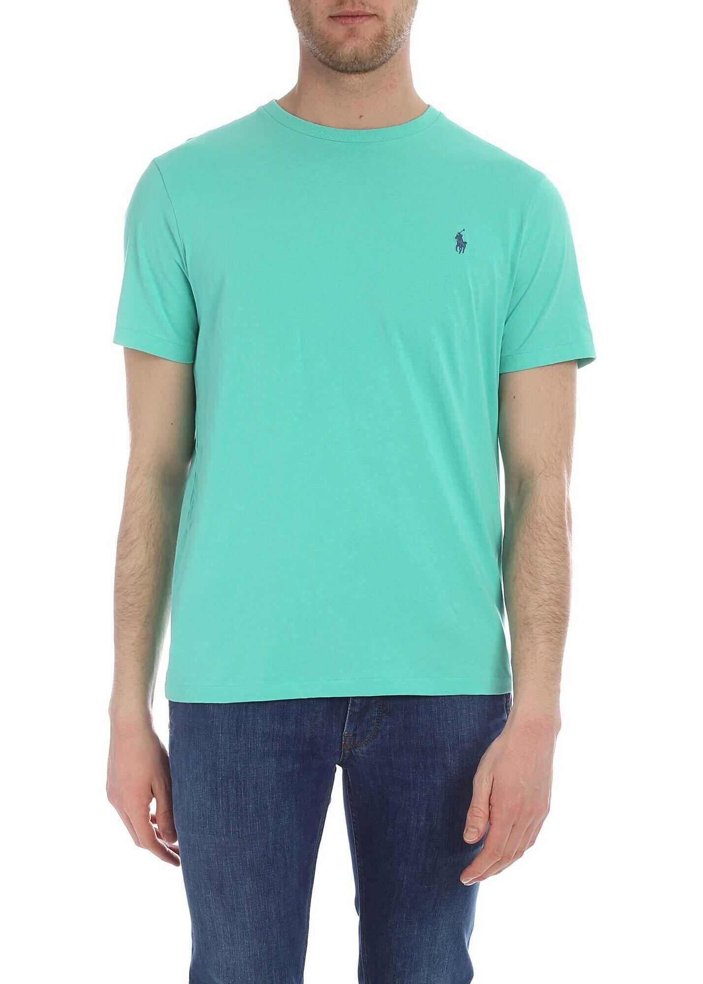 Ralph Lauren Custom Slim Fit T-Shirt In Mint Green Green