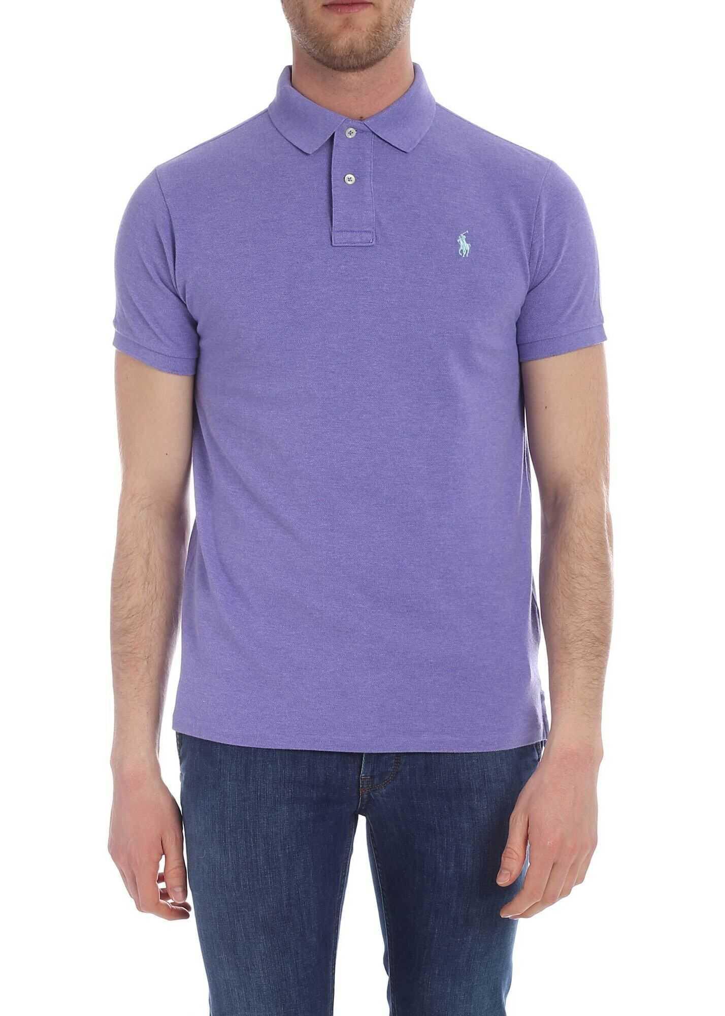 Ralph Lauren Lilac Slim Fit Polo Purple imagine