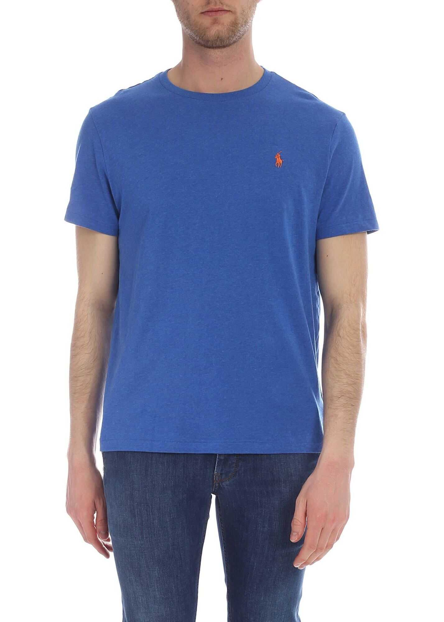 Blue Custom Slim Fit T-Shirt