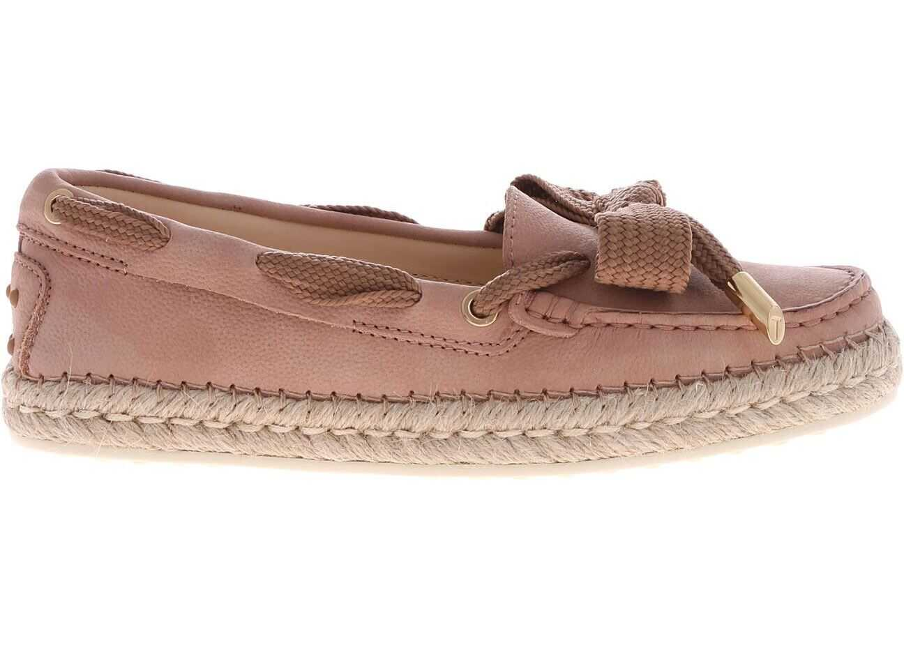 TOD'S Pink Loafers With Bow Detail Pink