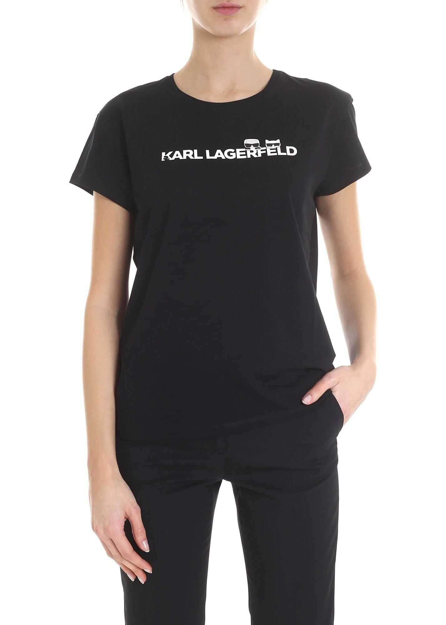 K / Iconic Black T-Shirt