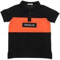 Tricouri Polo Polo In Black And Orange With Moncler Detail Baieti