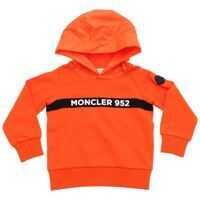 Bluze Moncler 952 Hoodie In Orange Baieti