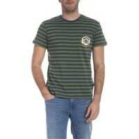 Tricouri Trussardi Striped T-Shirt In Green And Blue