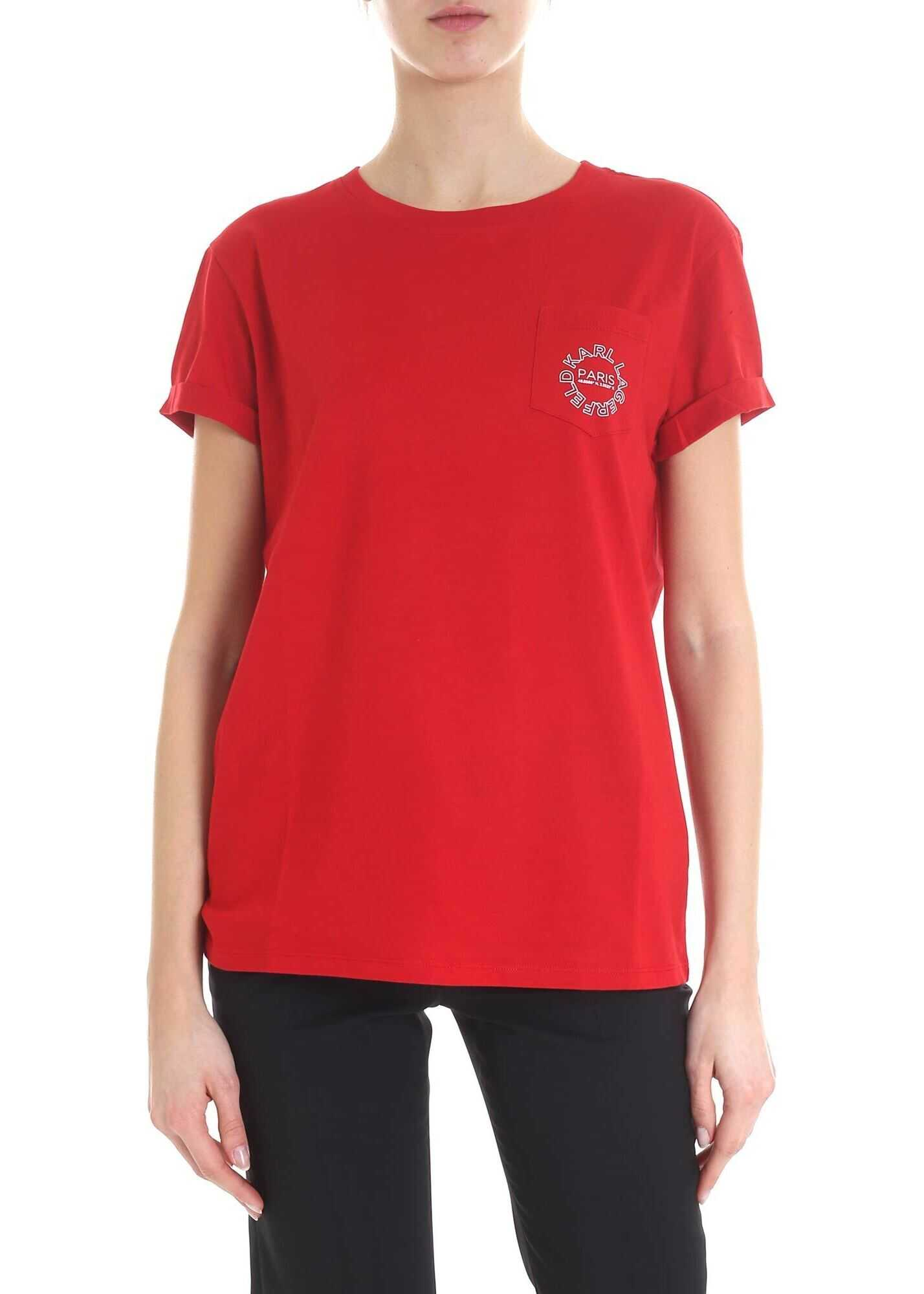 Red K / City T-Shirt By Karl Lagerfeld