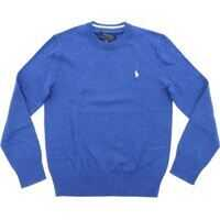 Pulovere casual Blue Sweater With Logo Embroidery Baieti