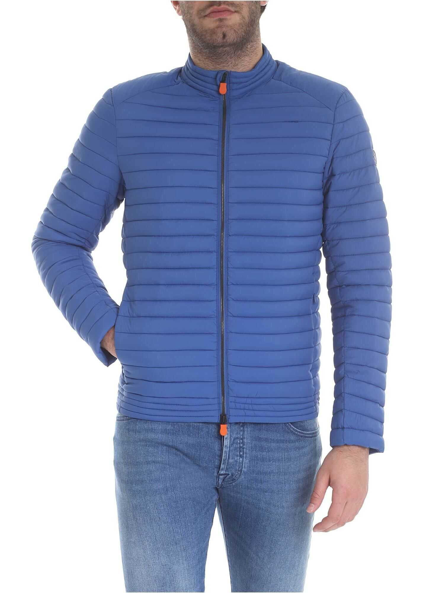 Save the Duck Quilted Jacket In Light Blue Light Blue imagine