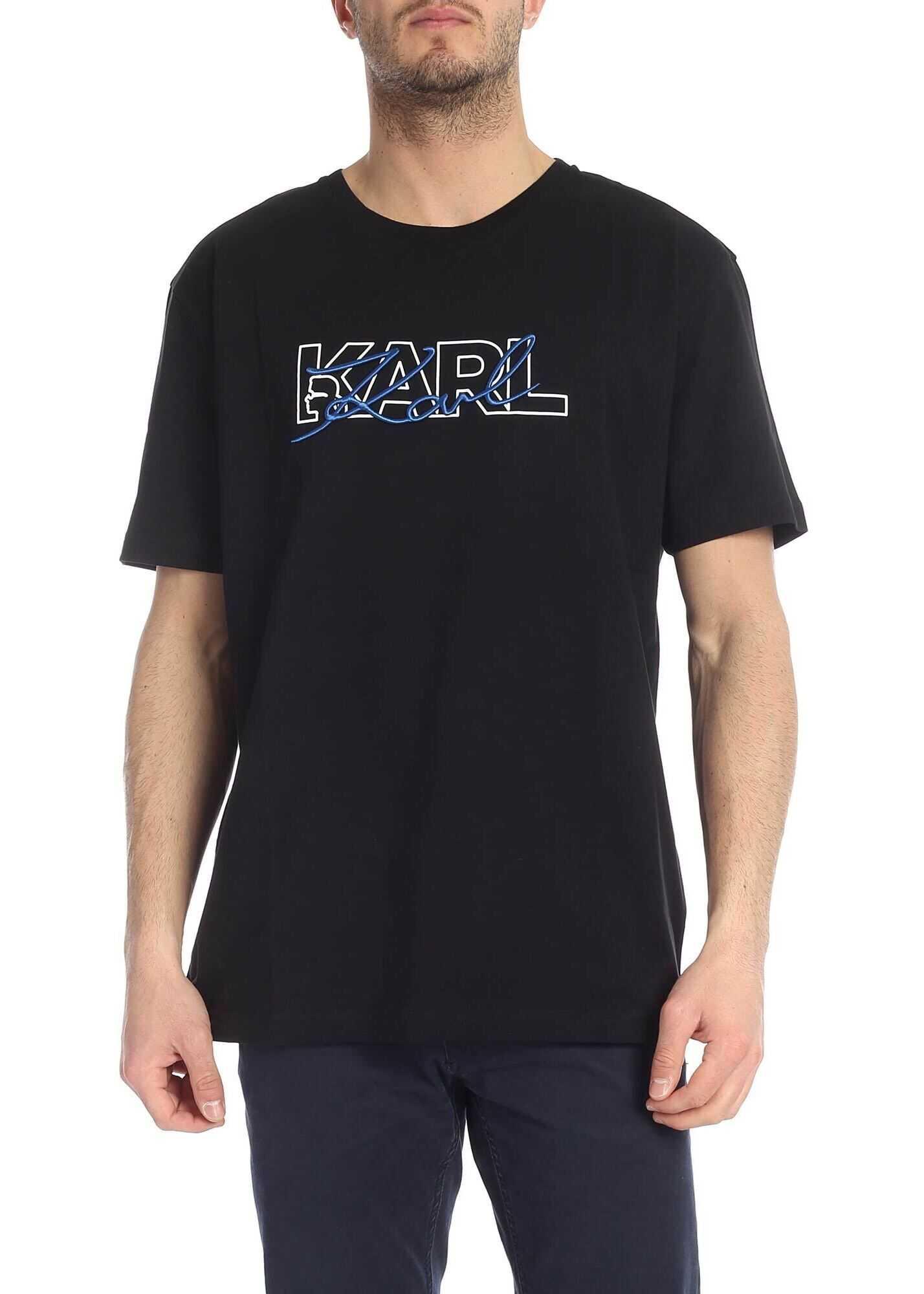 Karl Lagerfeld K Signature Black T-Shirt Black