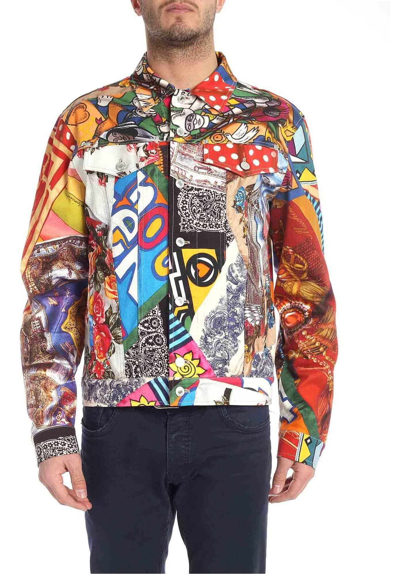 Moschino Multicolor Jacket With Foulard Print Multi imagine