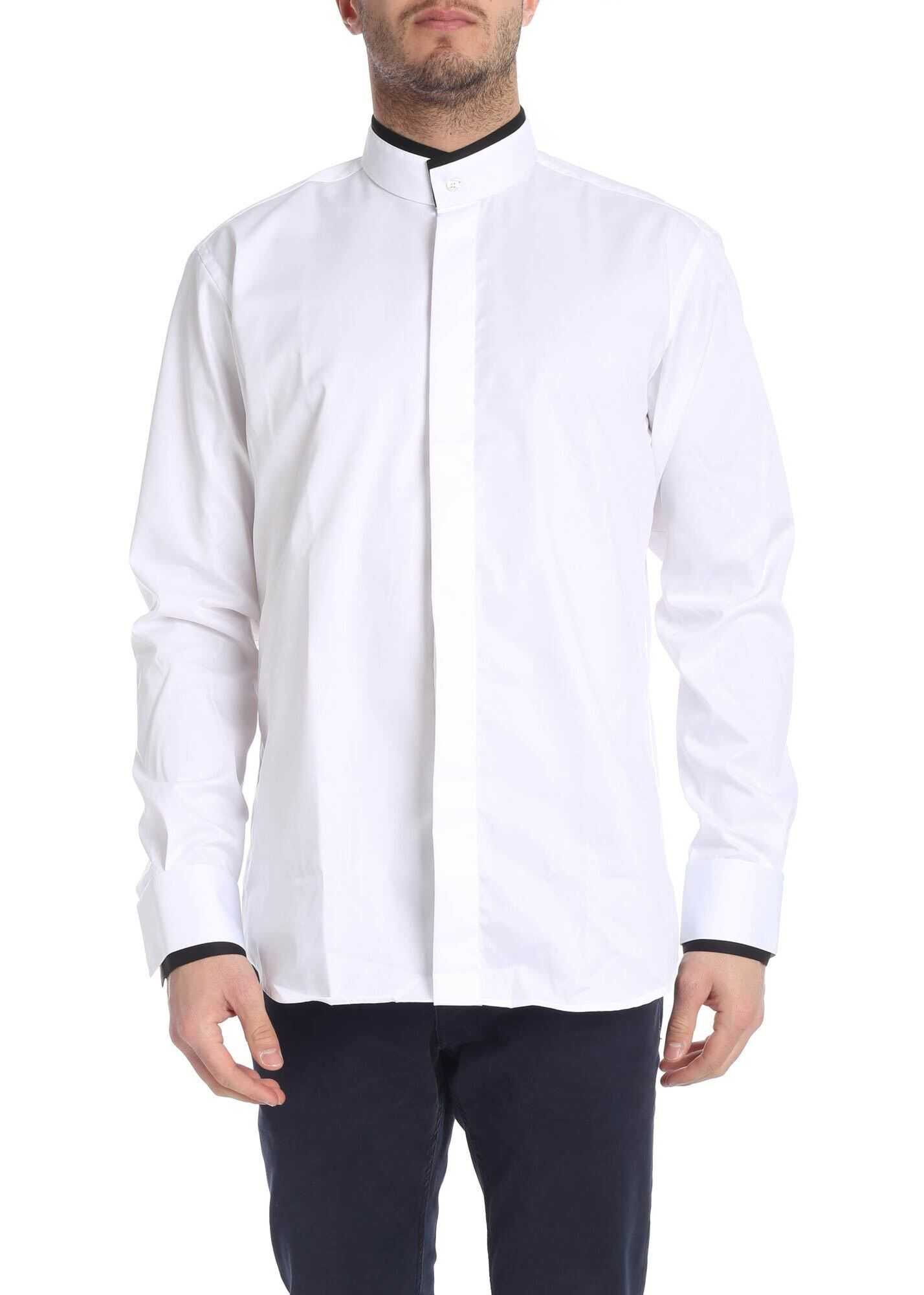 Karl Lagerfeld White Shirt With Contrasting Details White imagine