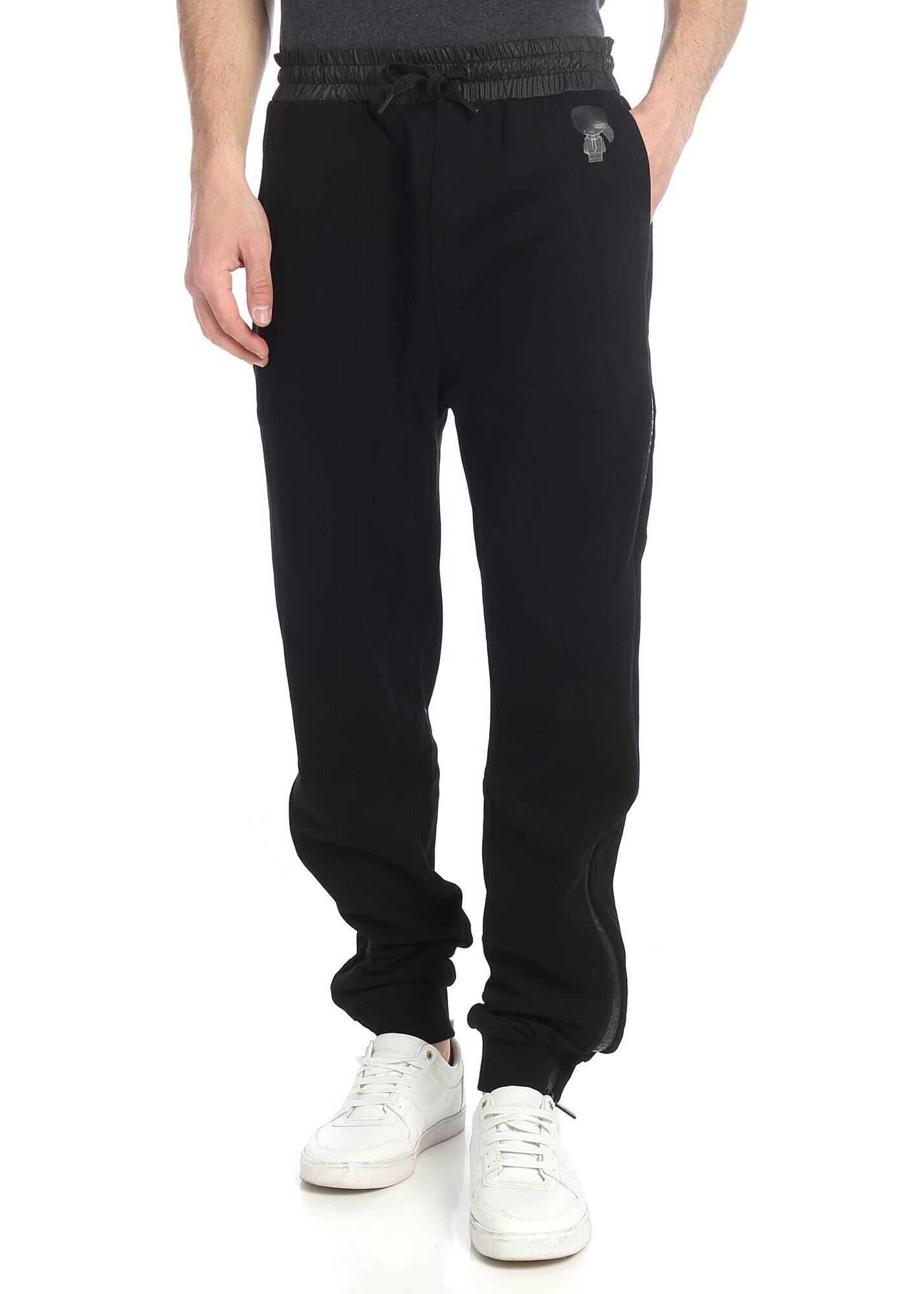 Karl Lagerfeld K Ikonik Black Sweat Pants Black imagine