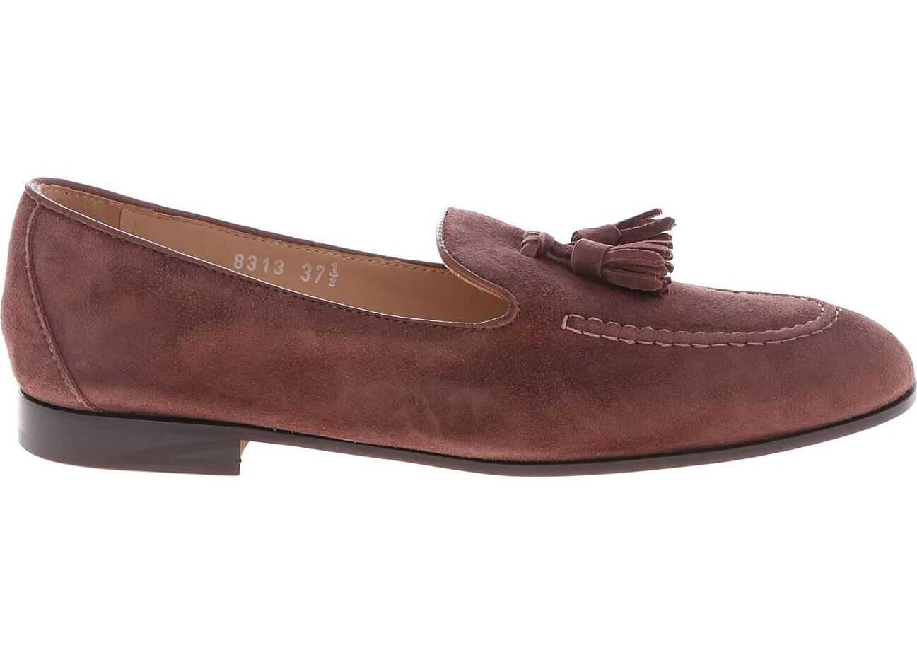 Doucal`s Loafers In Brown Suede Brown
