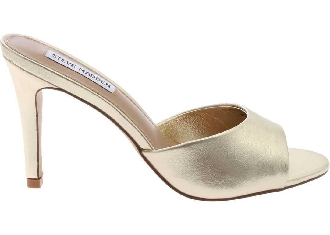 Steve Madden Gold Leather Sandals Gold