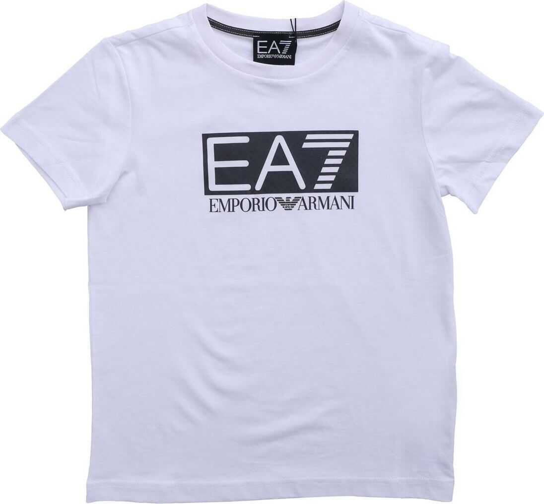 Ea7 Printed T-Shirt In White