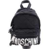 Rucsacuri Moschino Mini Backpack With Tone-On-Tone Logo In Silver
