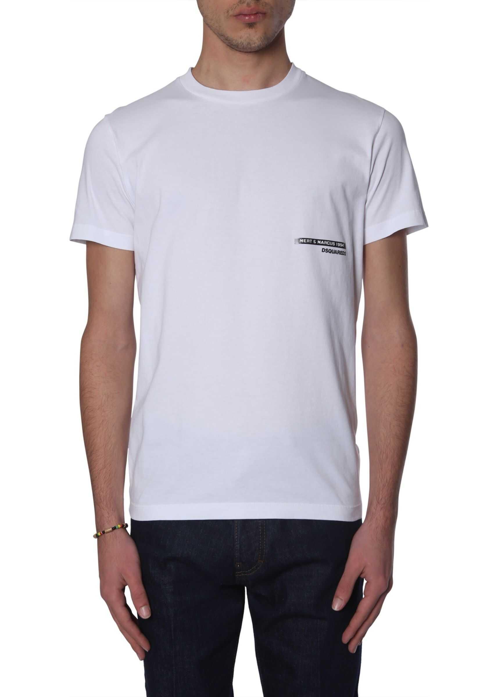 DSQUARED2 Mert & Marcus 1994 X Dsquared T-Shirt WHITE