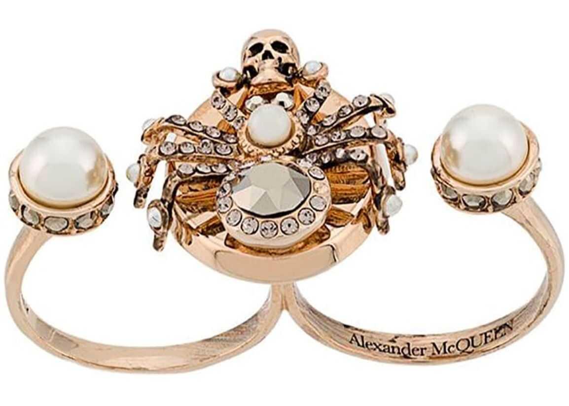 Alexander McQueen Spider Double Ring GOLD