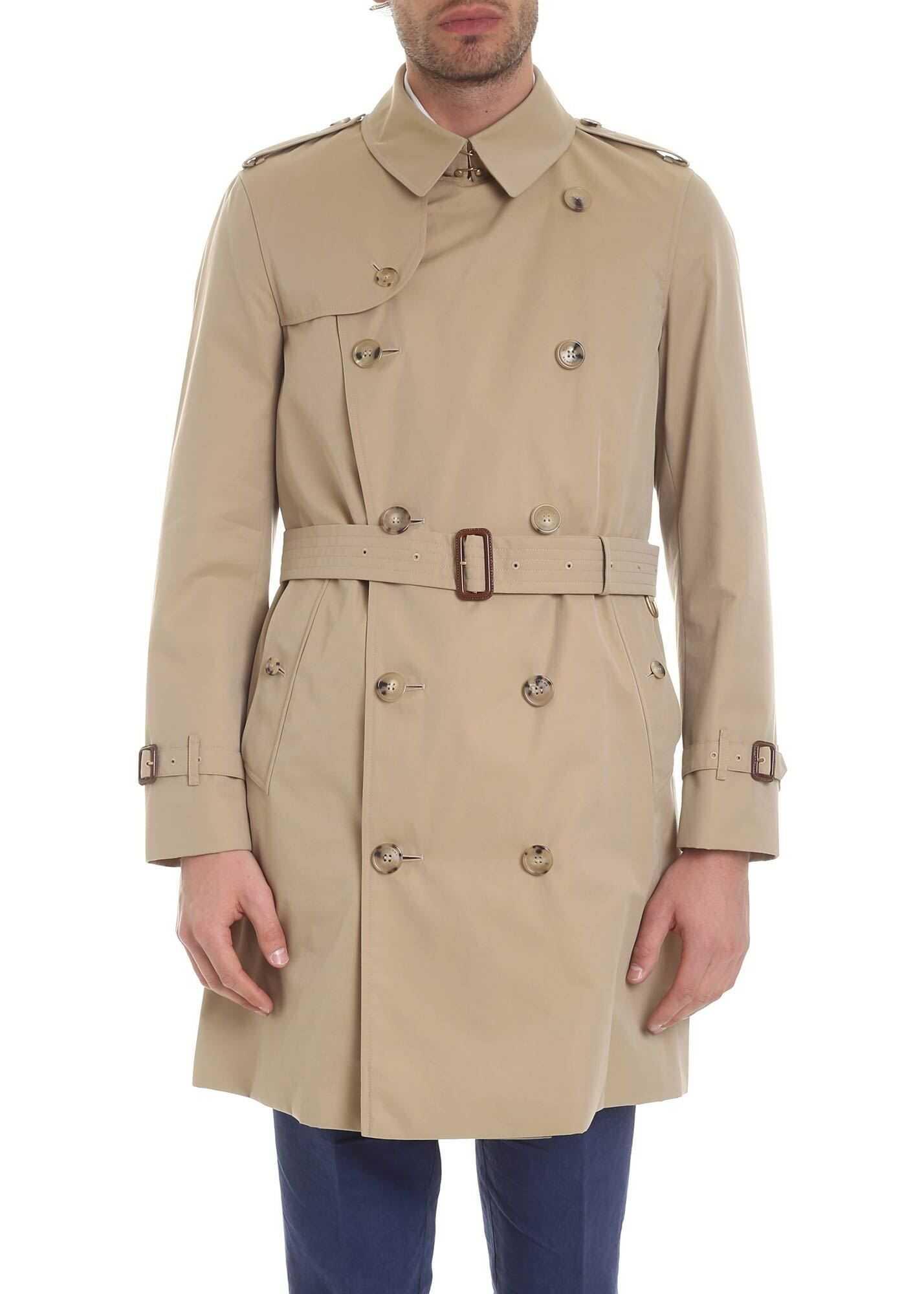Burberry Chelsea Trench Coat In Beige Beige