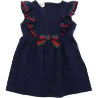 Rochii casual Gucci Cotton Piqué Dress With Bow