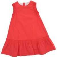 Rochii casual Neon Pink Cotton Sleeveless Dress Fete