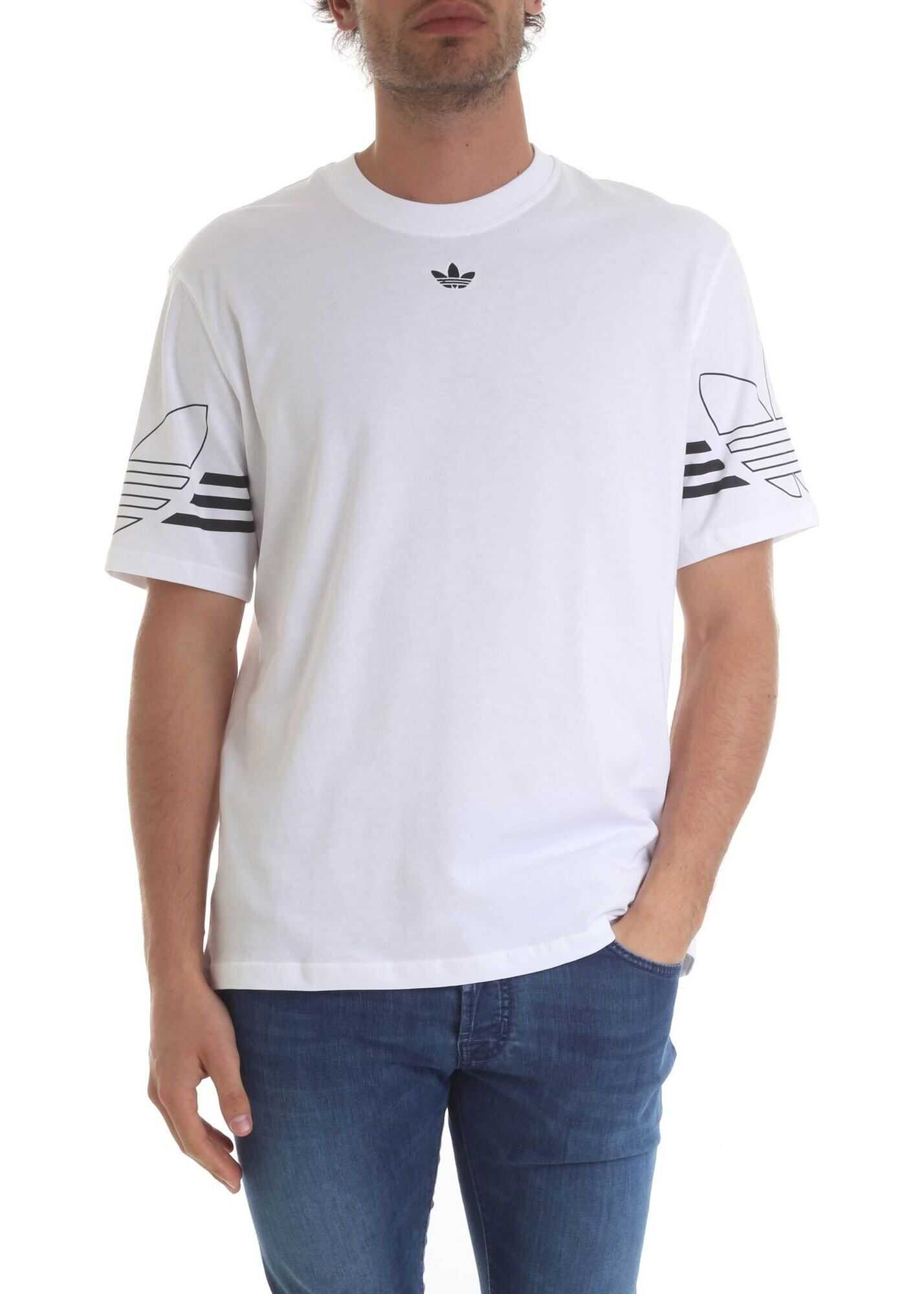 Adidas Originals Outline T-Shirt In White