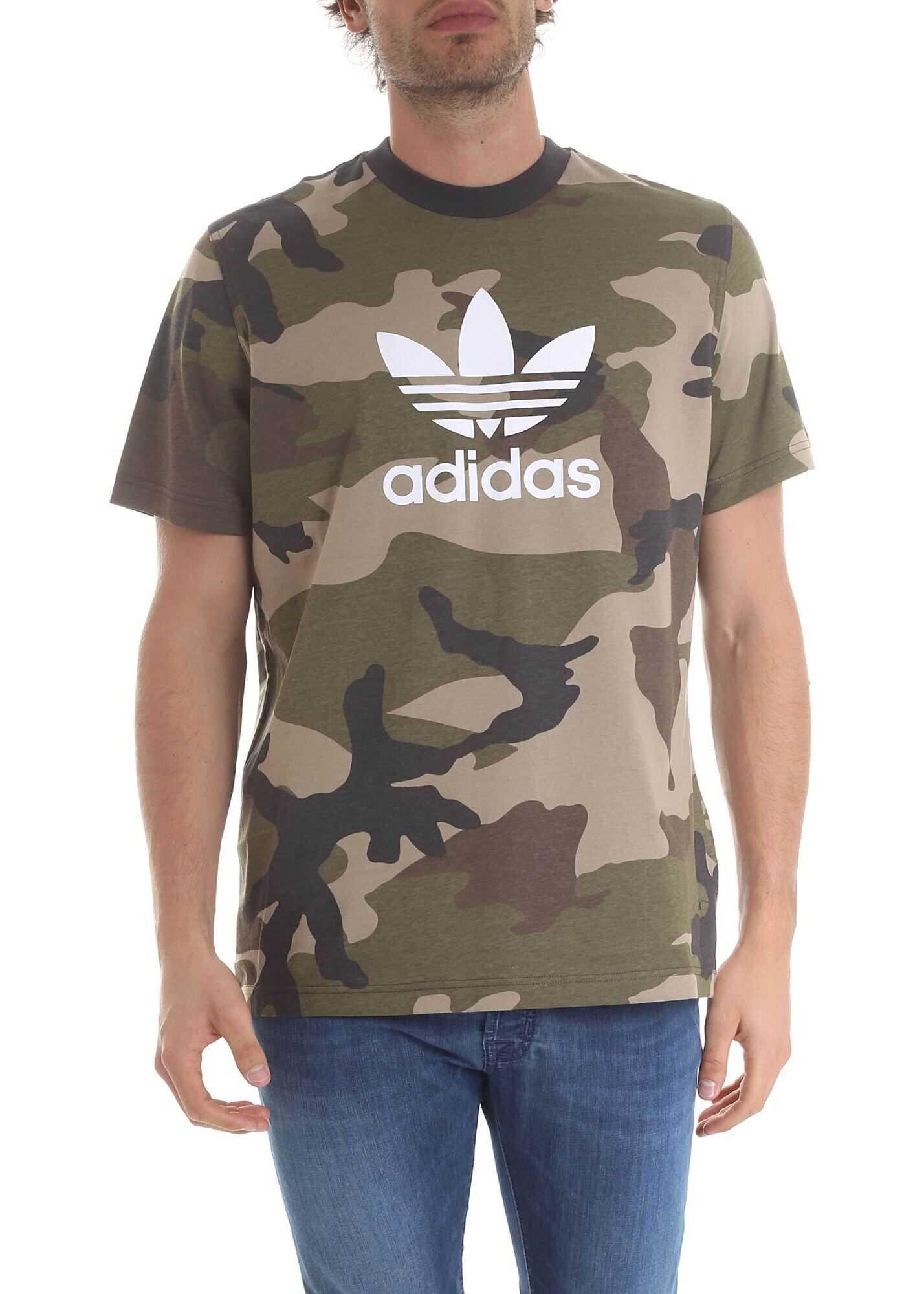 Adidas Originals Camo T-Shirt In Green