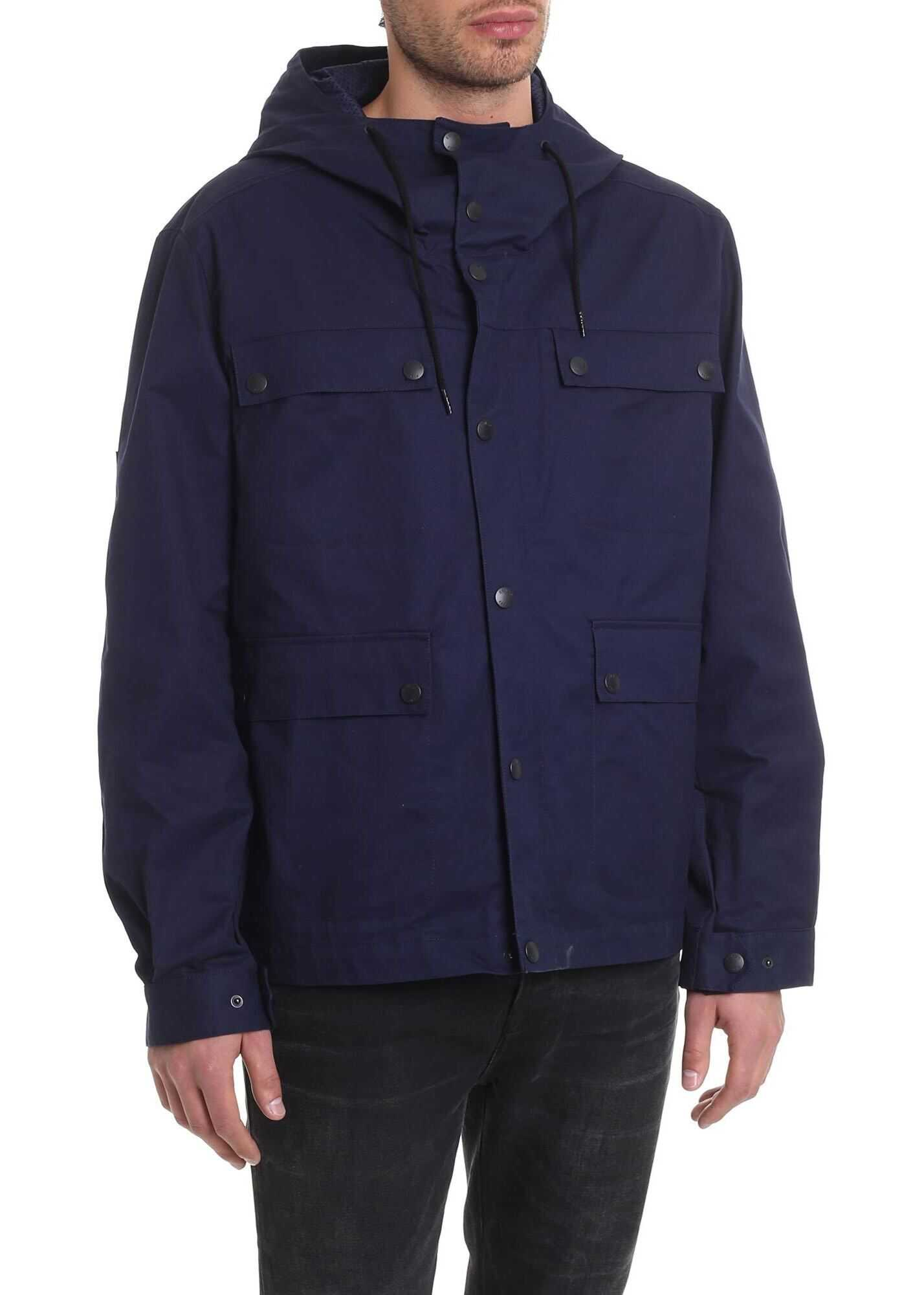 Kenzo Kenzo Sport Parka In Blue Blue imagine
