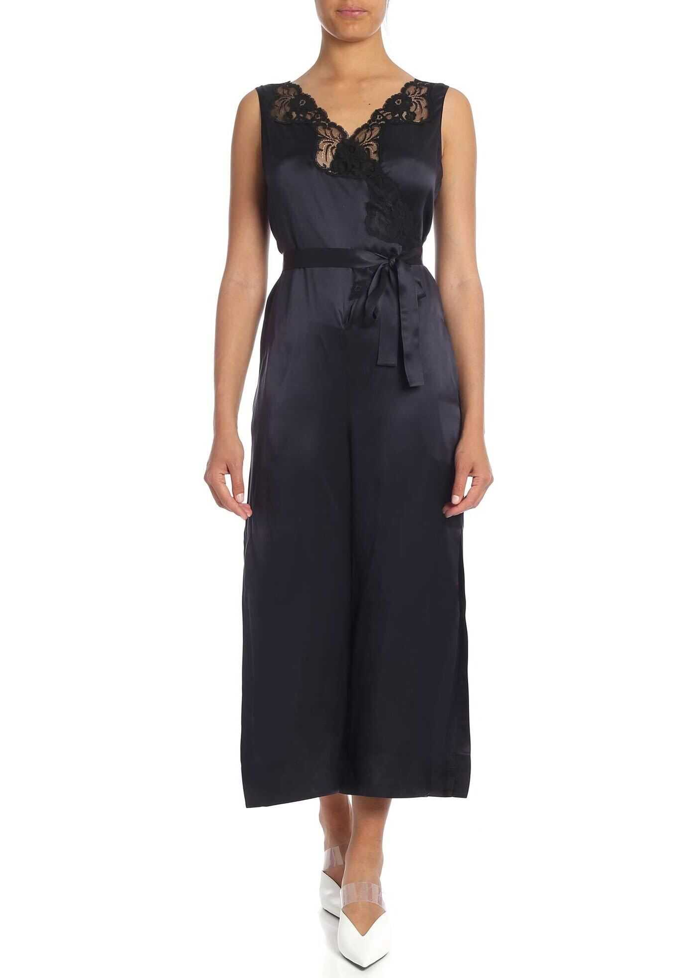 adidas by Stella McCartney Blue Jumpsuit With Lace Details Blue