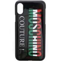 Huse mobil & tablete Iphone X Black Cover With Moschino Couture Logo Barbati